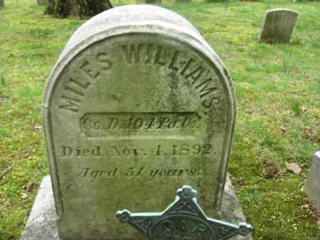 WILLIAMS  (CW), MILES - Bucks County, Pennsylvania   MILES WILLIAMS  (CW) - Pennsylvania Gravestone Photos
