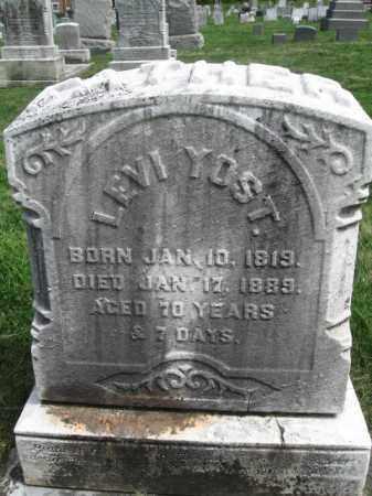 YOST, LEVI - Bucks County, Pennsylvania | LEVI YOST - Pennsylvania Gravestone Photos