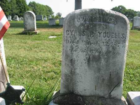 YOUELLS (YOWELLS) (CW), CYRUS P. - Bucks County, Pennsylvania | CYRUS P. YOUELLS (YOWELLS) (CW) - Pennsylvania Gravestone Photos