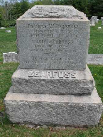 ZEARFOSS, GEORGE W. - Bucks County, Pennsylvania   GEORGE W. ZEARFOSS - Pennsylvania Gravestone Photos