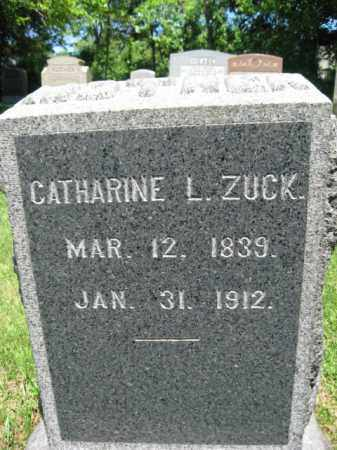 ZUCK, CATHERINE L. - Bucks County, Pennsylvania | CATHERINE L. ZUCK - Pennsylvania Gravestone Photos