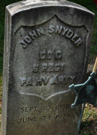 SNYDER (CW), JOHN - Butler County, Pennsylvania   JOHN SNYDER (CW) - Pennsylvania Gravestone Photos