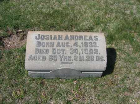 ANDREAS, JOSIAH - Carbon County, Pennsylvania | JOSIAH ANDREAS - Pennsylvania Gravestone Photos