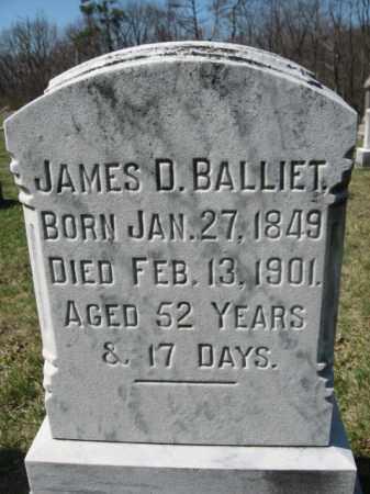 BALLIET, JAMES D. - Carbon County, Pennsylvania | JAMES D. BALLIET - Pennsylvania Gravestone Photos