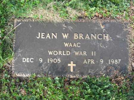 BRANCK (WW II), JEAN W. - Carbon County, Pennsylvania | JEAN W. BRANCK (WW II) - Pennsylvania Gravestone Photos