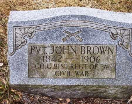 BROWN (CW), PVT.JOHN - Carbon County, Pennsylvania | PVT.JOHN BROWN (CW) - Pennsylvania Gravestone Photos