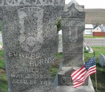 BURNS (CW), EDWARD - Carbon County, Pennsylvania | EDWARD BURNS (CW) - Pennsylvania Gravestone Photos