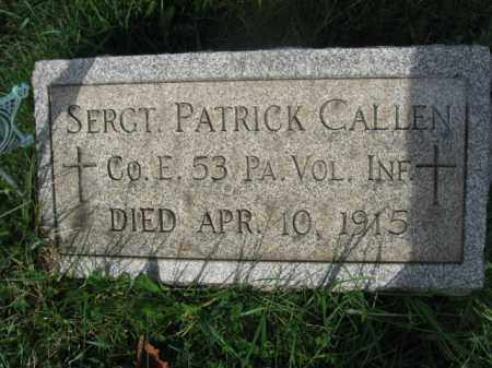 CALLEN (CW), SGT.PATRICK - Carbon County, Pennsylvania   SGT.PATRICK CALLEN (CW) - Pennsylvania Gravestone Photos