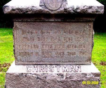 CHRISTMAN, JULIA ANN - Carbon County, Pennsylvania | JULIA ANN CHRISTMAN - Pennsylvania Gravestone Photos
