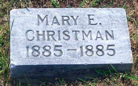 CHRISTMAN, MARY E. - Carbon County, Pennsylvania | MARY E. CHRISTMAN - Pennsylvania Gravestone Photos