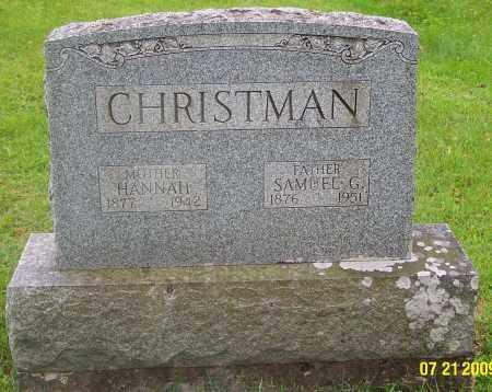 DOTTER CHRISTMAN, HANNAH - Carbon County, Pennsylvania | HANNAH DOTTER CHRISTMAN - Pennsylvania Gravestone Photos