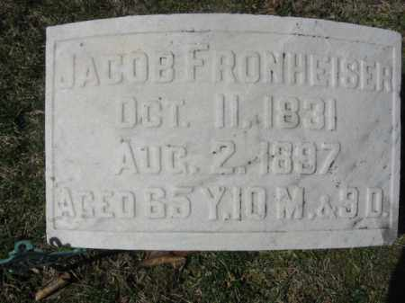 FRONHEISER, JACOB - Carbon County, Pennsylvania | JACOB FRONHEISER - Pennsylvania Gravestone Photos