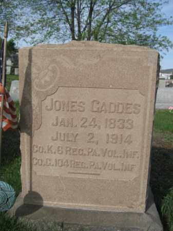 GADDES (CW), SGT.JONES - Carbon County, Pennsylvania | SGT.JONES GADDES (CW) - Pennsylvania Gravestone Photos