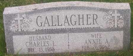 GALLAGHER, ANNIE A. - Carbon County, Pennsylvania | ANNIE A. GALLAGHER - Pennsylvania Gravestone Photos