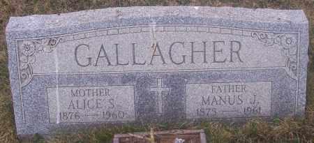 GALLAGHER, ALICE S. - Carbon County, Pennsylvania | ALICE S. GALLAGHER - Pennsylvania Gravestone Photos