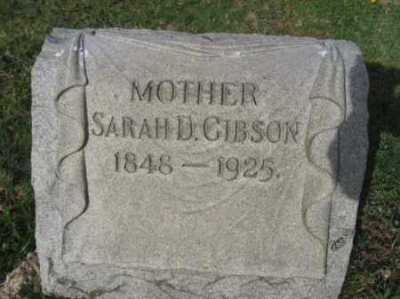 GIBSON, SARAH D. - Carbon County, Pennsylvania   SARAH D. GIBSON - Pennsylvania Gravestone Photos