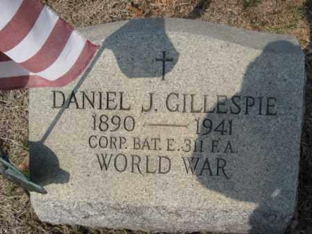GILLESPIE (WW I), DANIEL J. - Carbon County, Pennsylvania | DANIEL J. GILLESPIE (WW I) - Pennsylvania Gravestone Photos