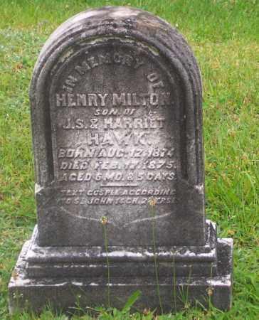 HAWK, HENRY MILTON - Carbon County, Pennsylvania | HENRY MILTON HAWK - Pennsylvania Gravestone Photos