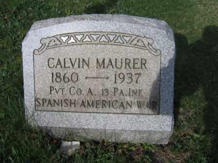 MAURER (SAW), CALVIN - Carbon County, Pennsylvania | CALVIN MAURER (SAW) - Pennsylvania Gravestone Photos