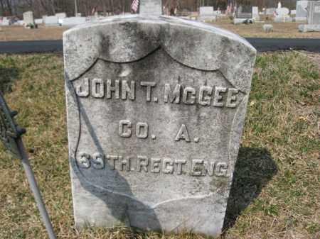 MCGEE (SAW), JOHN T. - Carbon County, Pennsylvania | JOHN T. MCGEE (SAW) - Pennsylvania Gravestone Photos