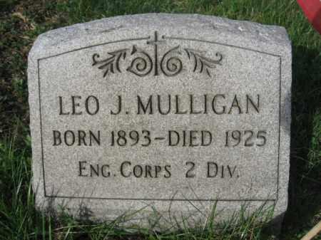 MULLIGAN (WW I), LEO J. - Carbon County, Pennsylvania   LEO J. MULLIGAN (WW I) - Pennsylvania Gravestone Photos