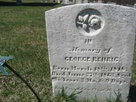 REHRIG, GEORGE - Carbon County, Pennsylvania | GEORGE REHRIG - Pennsylvania Gravestone Photos