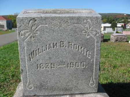 ROMIG, WILLIAM B. - Carbon County, Pennsylvania | WILLIAM B. ROMIG - Pennsylvania Gravestone Photos