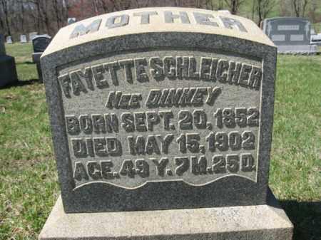 DINKEY SCHLEICHER, FAYETTE - Carbon County, Pennsylvania   FAYETTE DINKEY SCHLEICHER - Pennsylvania Gravestone Photos