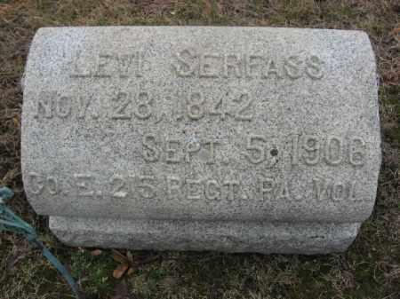 SERFASS (CW), LEVI - Carbon County, Pennsylvania | LEVI SERFASS (CW) - Pennsylvania Gravestone Photos