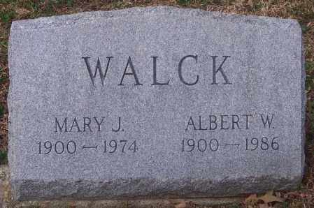 WALCK, MARY J. - Carbon County, Pennsylvania | MARY J. WALCK - Pennsylvania Gravestone Photos