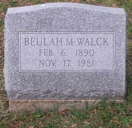 WALCK, BEULAH M. - Carbon County, Pennsylvania | BEULAH M. WALCK - Pennsylvania Gravestone Photos