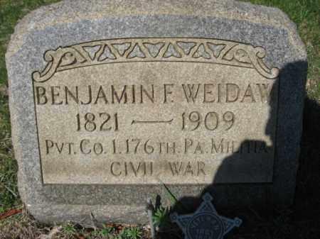 WEIDAW  (CW), BENJAMIN F. - Carbon County, Pennsylvania | BENJAMIN F. WEIDAW  (CW) - Pennsylvania Gravestone Photos