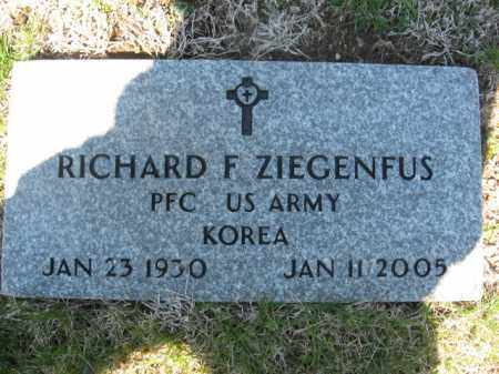 ZIEGENFUS (KOREA), RICHARD F. - Carbon County, Pennsylvania | RICHARD F. ZIEGENFUS (KOREA) - Pennsylvania Gravestone Photos