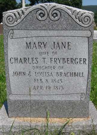 FRYBERGER, MARY JANE - Centre County, Pennsylvania | MARY JANE FRYBERGER - Pennsylvania Gravestone Photos