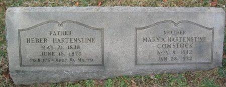 HARTENSTINE (CW), HEBER - Chester County, Pennsylvania | HEBER HARTENSTINE (CW) - Pennsylvania Gravestone Photos