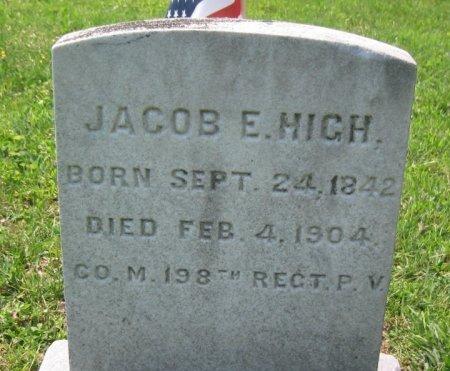 HIGH (CW), JACOB E. - Chester County, Pennsylvania   JACOB E. HIGH (CW) - Pennsylvania Gravestone Photos