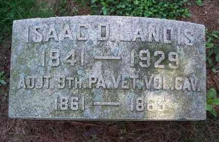 LANDIS (CW), ISAAC D. - Chester County, Pennsylvania | ISAAC D. LANDIS (CW) - Pennsylvania Gravestone Photos