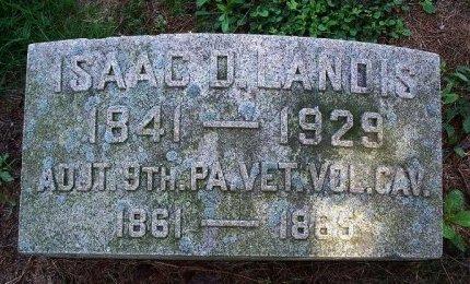 LANDIS (CW), ISAAC D, - Chester County, Pennsylvania | ISAAC D, LANDIS (CW) - Pennsylvania Gravestone Photos