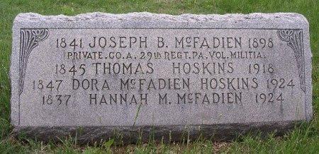 MCFADIEN (MCFADDEN) (CW), JOSEPH B. - Chester County, Pennsylvania | JOSEPH B. MCFADIEN (MCFADDEN) (CW) - Pennsylvania Gravestone Photos