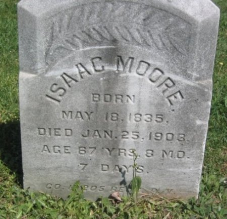 MOORE (CW), ISAAC - Chester County, Pennsylvania | ISAAC MOORE (CW) - Pennsylvania Gravestone Photos