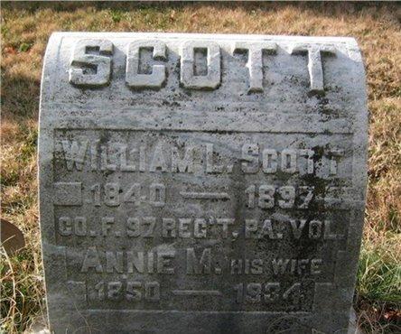 SCOTT (CW), WILLIAM L. - Chester County, Pennsylvania | WILLIAM L. SCOTT (CW) - Pennsylvania Gravestone Photos