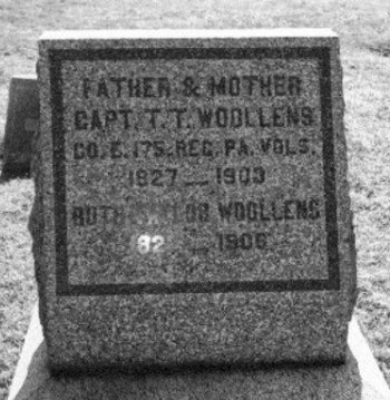 WOOLLENS (WOOLENS), THEODORE T. - Chester County, Pennsylvania | THEODORE T. WOOLLENS (WOOLENS) - Pennsylvania Gravestone Photos