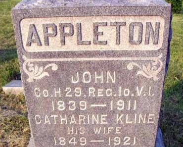 APPLETON (CW), JOHN - Clearfield County, Pennsylvania | JOHN APPLETON (CW) - Pennsylvania Gravestone Photos
