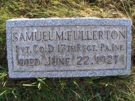 FULLERTON (CW), SAMUEL M. - Clearfield County, Pennsylvania   SAMUEL M. FULLERTON (CW) - Pennsylvania Gravestone Photos