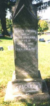 SPACKMAN, FRANCES GERTRUDE - Clearfield County, Pennsylvania   FRANCES GERTRUDE SPACKMAN - Pennsylvania Gravestone Photos