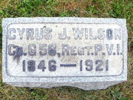 WILSON (CW), CYRUS J. - Clearfield County, Pennsylvania | CYRUS J. WILSON (CW) - Pennsylvania Gravestone Photos