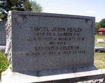 PEALER (CW), SAMUEL JASON - Columbia County, Pennsylvania | SAMUEL JASON PEALER (CW) - Pennsylvania Gravestone Photos