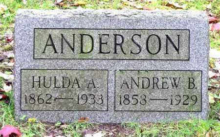 ANDERSON, HULDA A. - Crawford County, Pennsylvania | HULDA A. ANDERSON - Pennsylvania Gravestone Photos