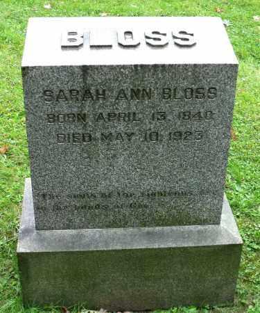 BLOSS, SARAH ANN - Crawford County, Pennsylvania | SARAH ANN BLOSS - Pennsylvania Gravestone Photos