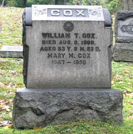 COX, WILLIAM T. - Crawford County, Pennsylvania | WILLIAM T. COX - Pennsylvania Gravestone Photos
